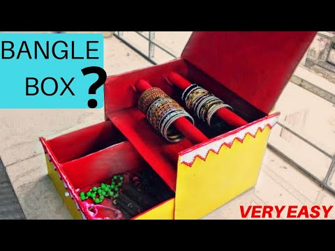 How to Make Bangle Box From Waste Material | Easy Diy