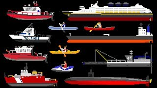 Water Vehicles 2 - Boats & Ships - The Kids' Picture Show (Fun & Educational Learning Video)