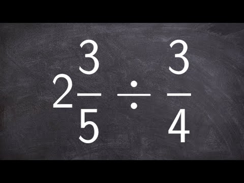 How to divide a mixed number by a fraction