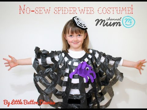 No-sew Halloween Spider web Costume For Kids