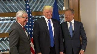 Trump begins Brussels whirlwind visit