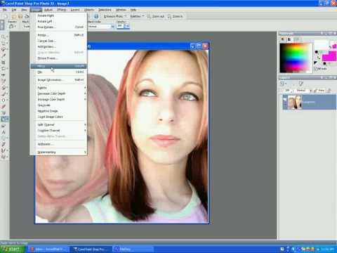 Merging 2 pics together in paintshop pro.