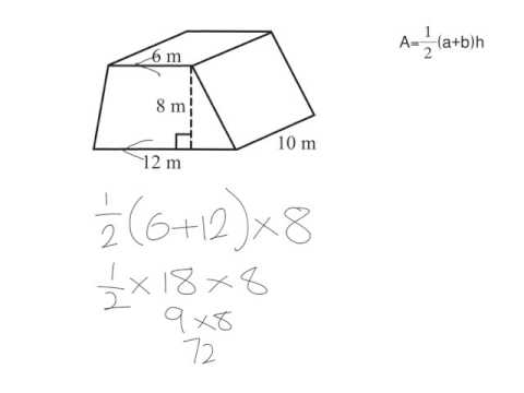 Volume of a trapezoidal prism