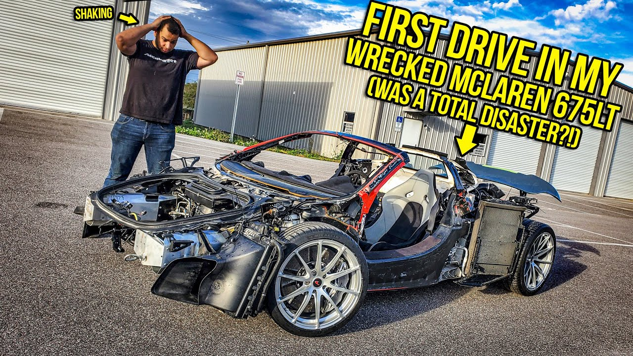 Driving My Wrecked Mclaren 675LT For The First Time Was A COMPLETE DISASTER