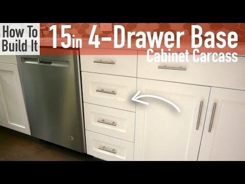 DIY 15in 4-Drawer Base Cabinet Carcass (Frameless)