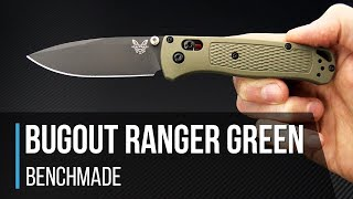 Benchmade Bugout Ranger Green 535GRY-1 Overview - getplaypk