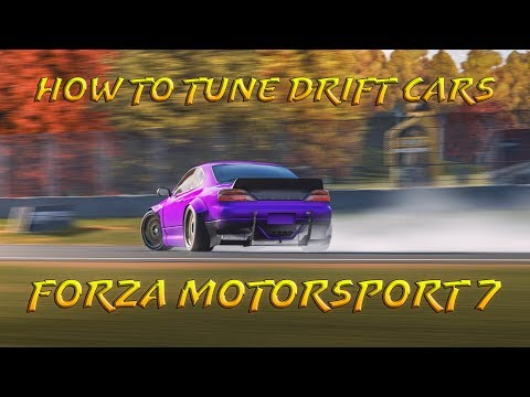 How To Tune Drift Cars | Forza 7