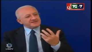 Il governatore della Campania attacca il
