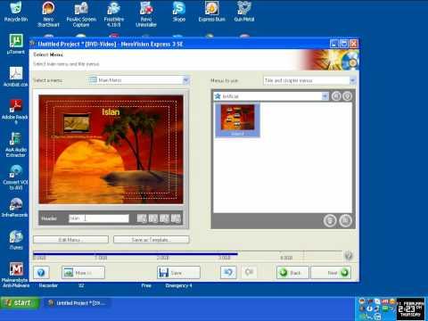 Burn video files to DVD using Nero 6