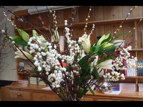 How to create a large floral winter vase arrangement