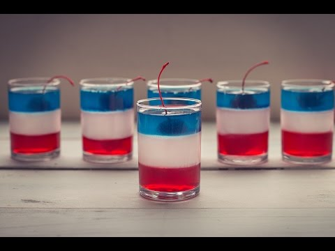 Red, White, and Blue Vodka Jello Cups