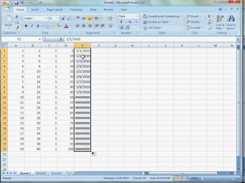 Excel 2007: Autofill and Autosum