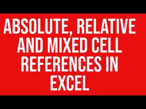 Absolute, relative and mixed cell references in MS Excel