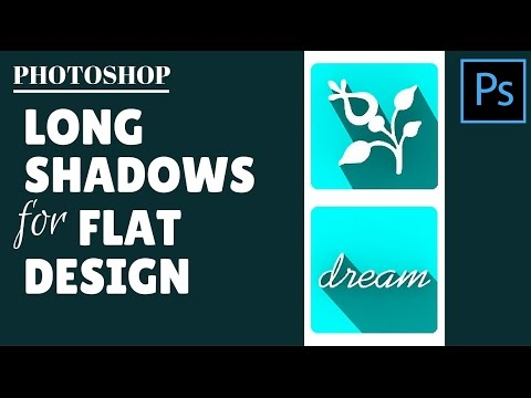 Create Long Shadows for Flat Design in Photoshop - create icons with long shadows