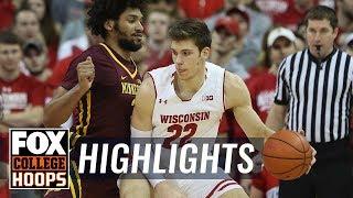 Wisconsin vs Minnesota | HIGHLIGHTS | FOX COLLEGE HOOPS