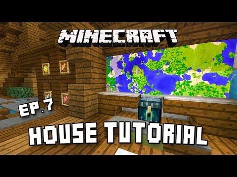 Minecraft House Tutorial:  Modern Interior Design Ideas  (Scarland Fishing Cabin Part 7)