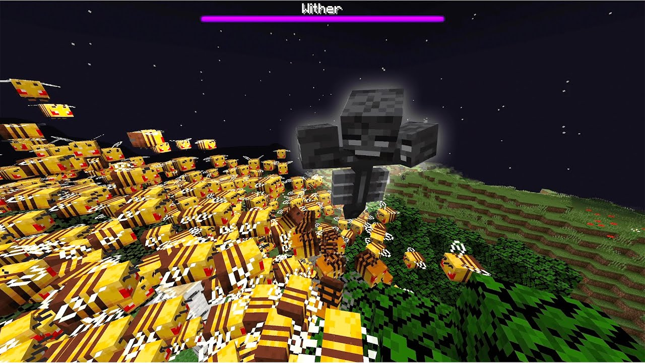 Killing The Wither With an Army of Bees