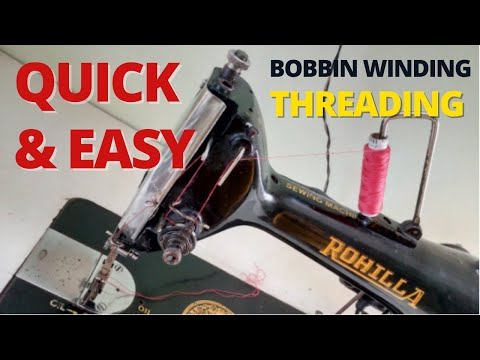 How To Wind & Load the Bobbin & Thread the Sewing Machine