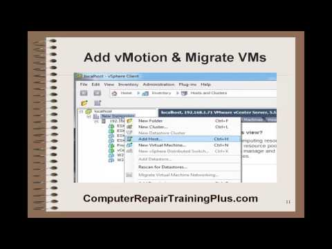 Add vMotion and Migrate VMs