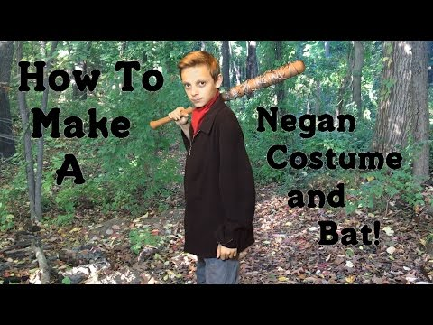 Make Your Own Negan Costume and Bat! (DIY)