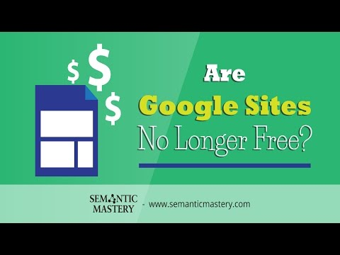 Are Google Sites No Longer Free?