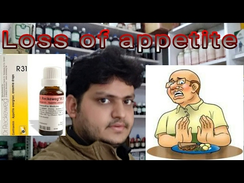 Loss of appetite!how to increase appetite by homeopathic medicine? explain!