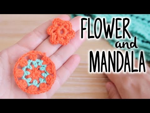 How to crochet SMALL FLOWER and SMALL MANDALA ♥ CROCHET LOVERS