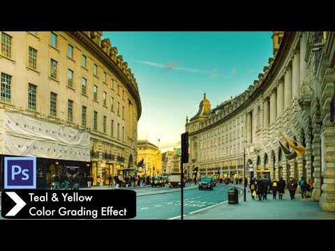 Teal & Yellow Color Grading Effect in Photoshop cc