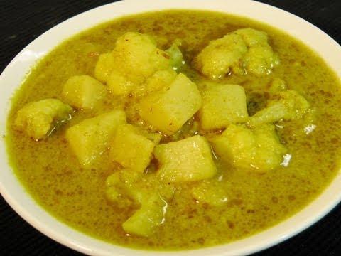 Aloo Gobi Curry in Green Masala