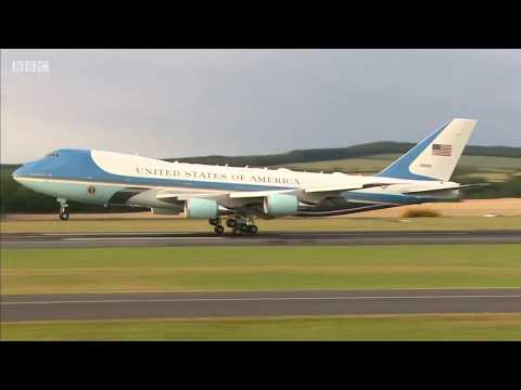 Donald Trump arrives in Scotland