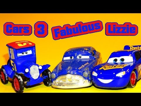 Pixar Cars 3 Fabulous Lizzie with Fabulous Doc Hudson and Fabulous Lightning McQueen