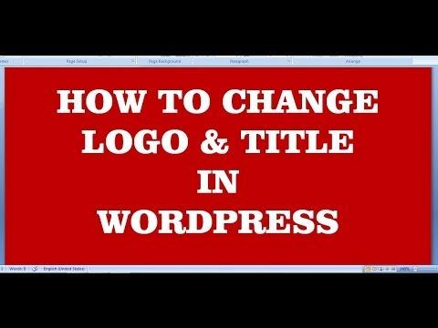 how to change logo & title in wordpress website (wordpress tutorial-4)