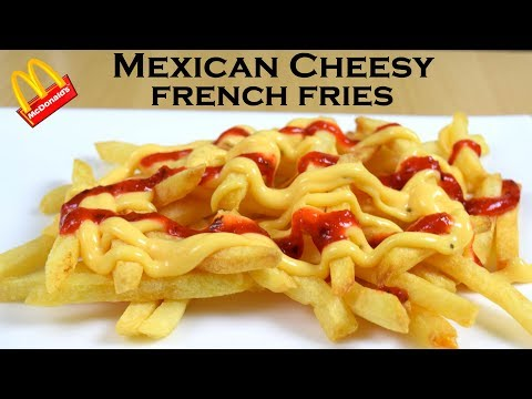 Make Mexican Cheesy French Fries at home like McDonald's|Nacho cheese sauce|yummylicious