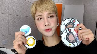 Trying the BT21 makeup (spoilers: I don