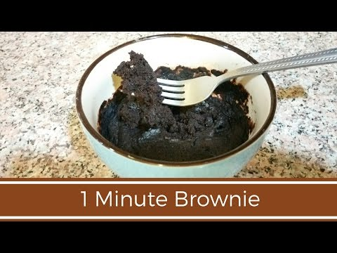 1 Minute Brownie in a Mug | Microwave Recipe | No Eggs | Perfect Brownie Recipe EVER!!!