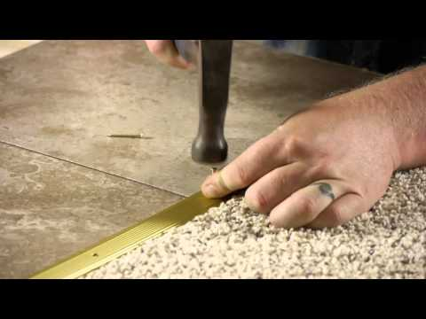 How to Install a Transition Strip From Carpet to Ceramic Tile