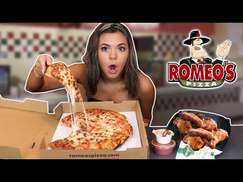 CHEESY PIZZA AND SAUCY WINGS MUKBANG!