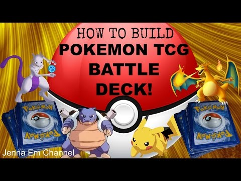 How to Build a Pokemon TCG Battle Deck! (Trading Card Game) Jenna Em Channel Tutorial