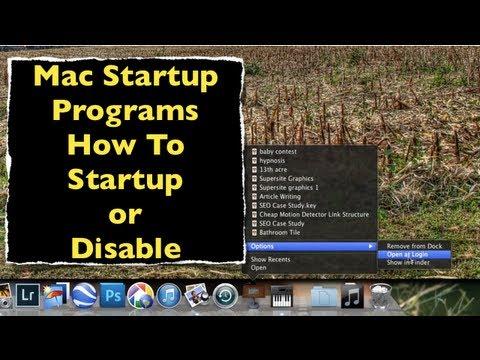 Mac Startup Program ~ How To Start Or Stop Programs At Login
