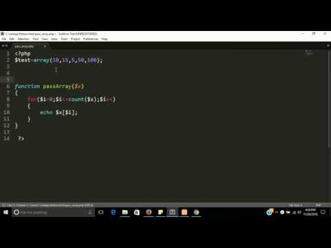how to pass an array in function  php | Learn php