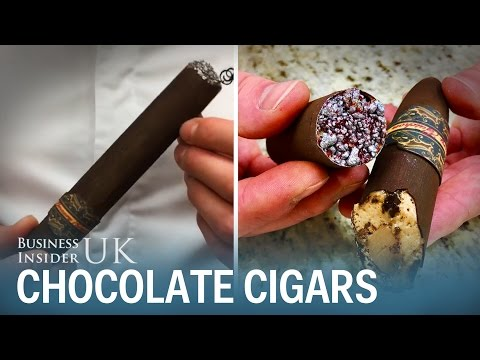 Chocolate cigars looks scarily like the real thing