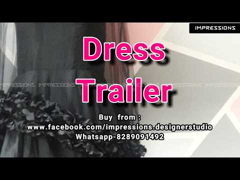 Dress Trailer- Black evening gown with feathered cape for a glam loaded cocktail party