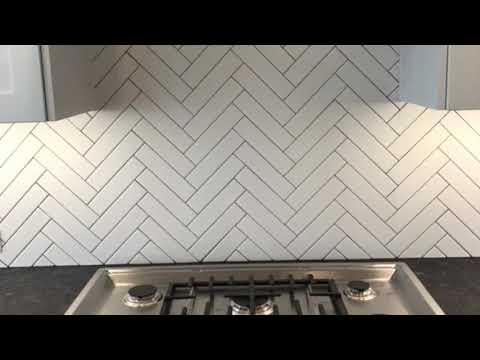 Herringbone Backsplash Completed