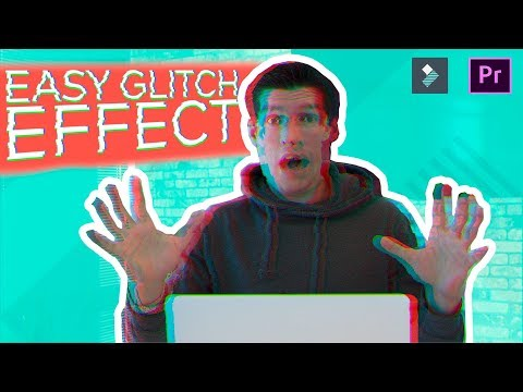 How To Make GLITCH DISTORTION EFFECTS in 1 Click!!!