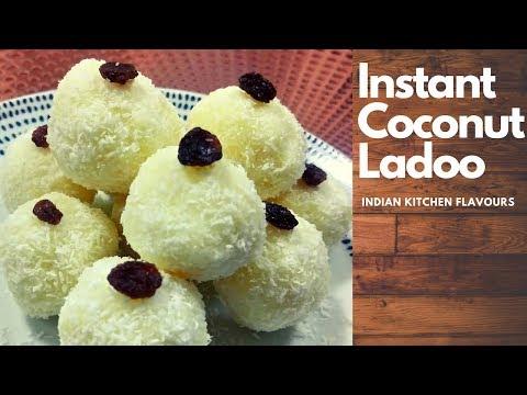 Instant Coconut Ladoo (No Cooking Chashni)| Nariyal Ladoo| Nariyal ki Mithai