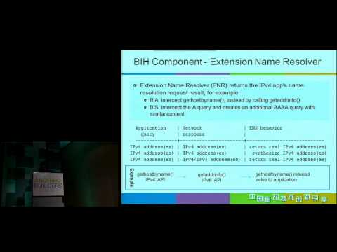 Bump In Host on Android - A Host-Based IPv4 to IPv6 Translation - Android Builder Summit 2012