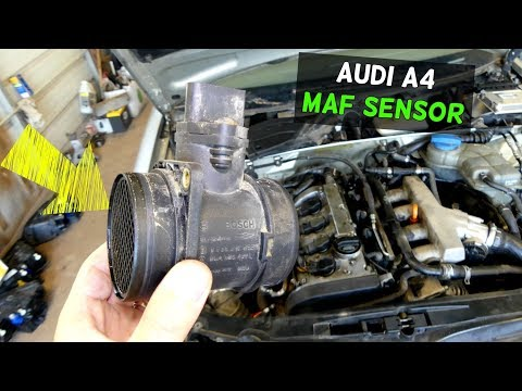 AUDI A4 B6 MAF SENSOR  MASS AIR FLOW SENSOR REPLACEMENT REMOVAL