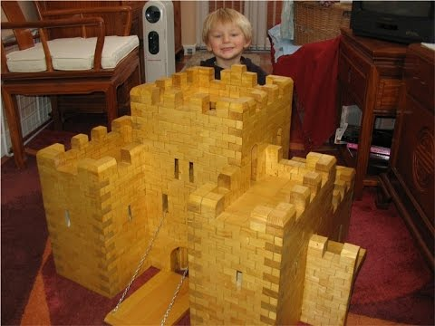 Toy Wooden Medieval Castle