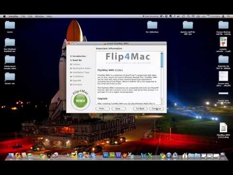 Installing Flip4Mac to watch WMV files in QuickTime