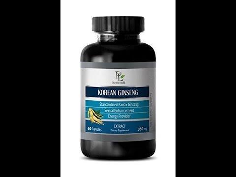 Libido supplements men - KOREAN GINSENG 350MG EXTACT - panax korean ginseng - 1 Bottle (60 Capsules
